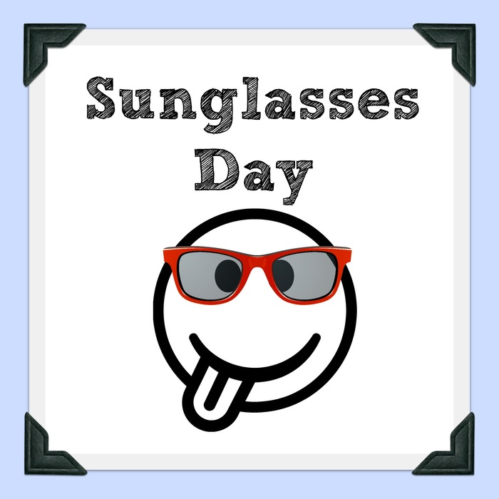Sunglasses Day Clipart