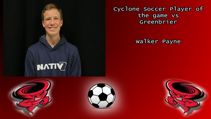 Cyclone Soccer player of the game.