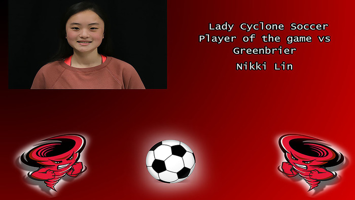 Nikki Lin player of the game.