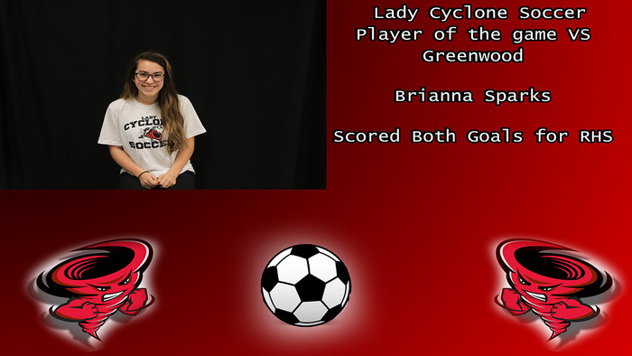 Lady Cyclone player of the game.