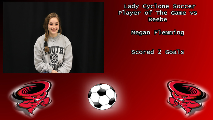 Megan Flemming Lady Cyclone Player of The Game vs Beebe.