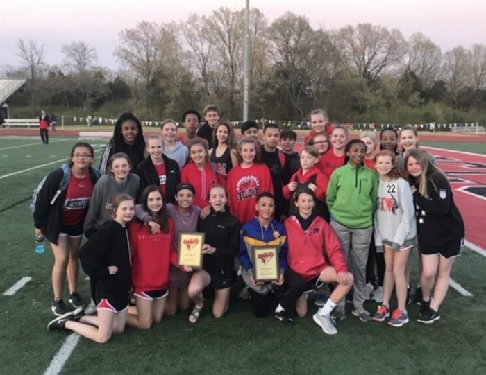 RMS boys and girls track teams take 1st place at the Gales relays.