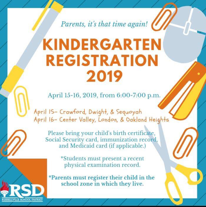 Kindergarten registration.