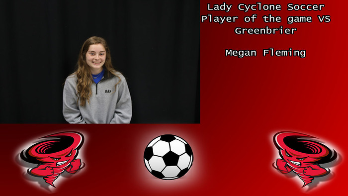 Megan Fleming player of the game.