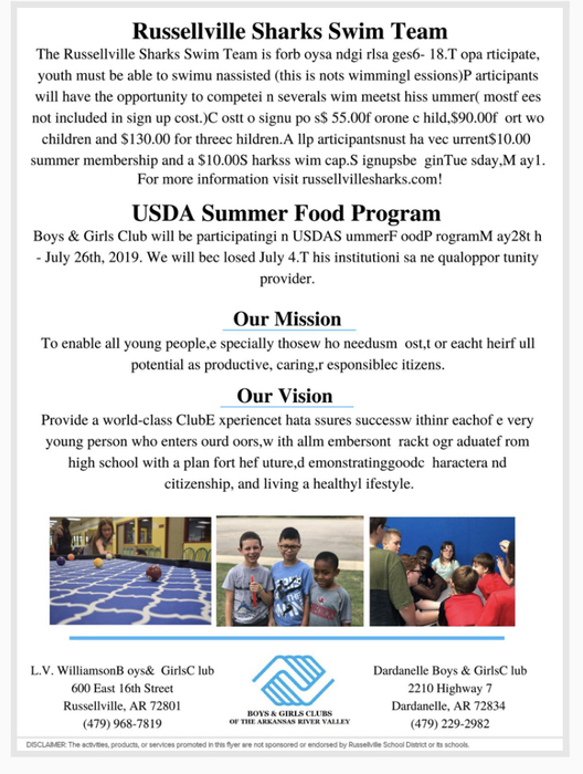 More summer programs