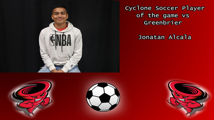 Jonatan Alcala player of the game.