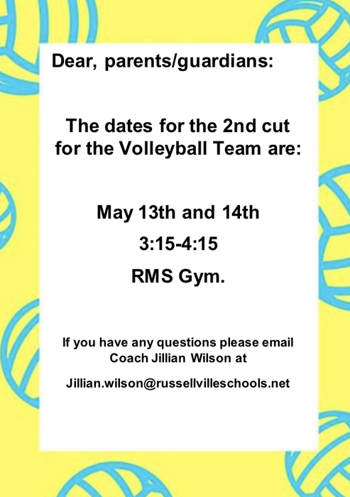 RMS volleyball news.
