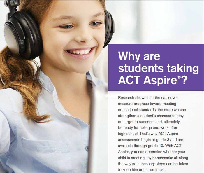Why are students taking the ACT aspire?