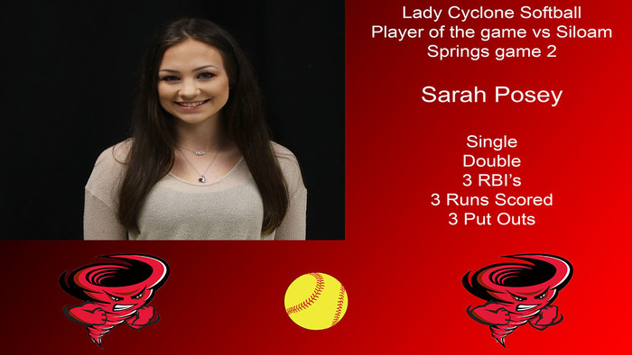 Sarah Posey player of the game.