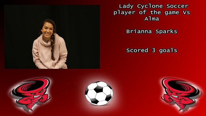 Brianna Sparks player of the game.