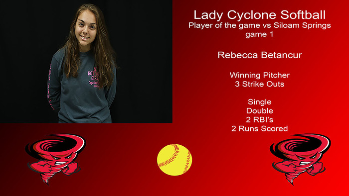 Rebecca Betancur player of the game.
