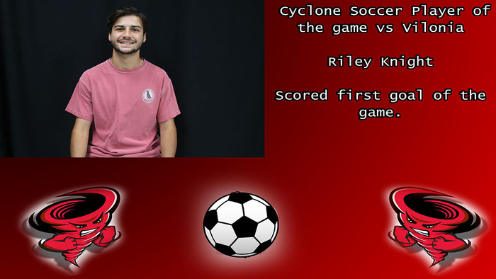 Riley Knight player of the game.