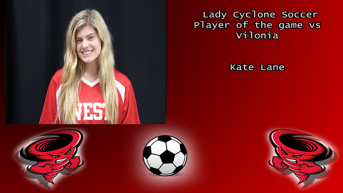 Kate Lane player of the game.