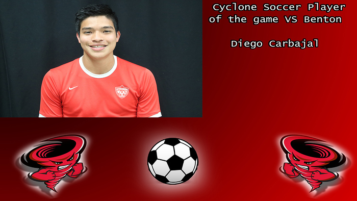 Diego Carbajal player of the game.