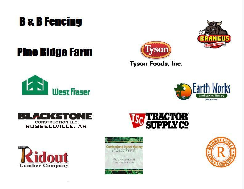 White background with sponsors displayed for community garden.