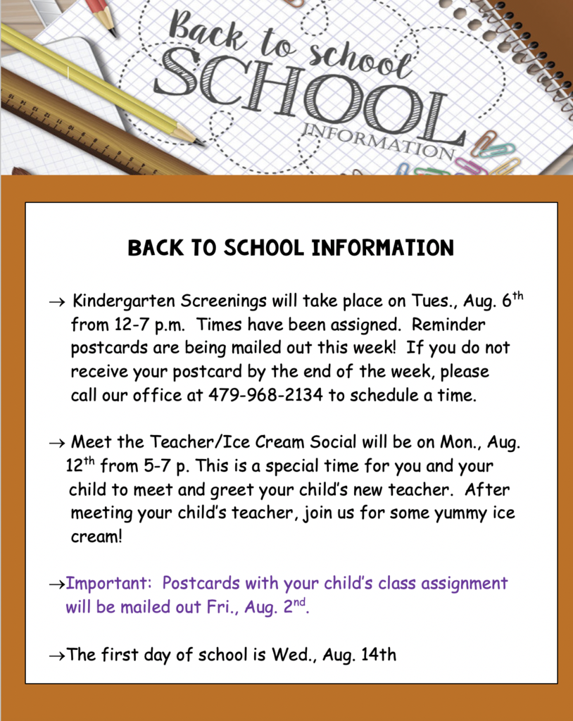 2019 Back to School Info Screenshot