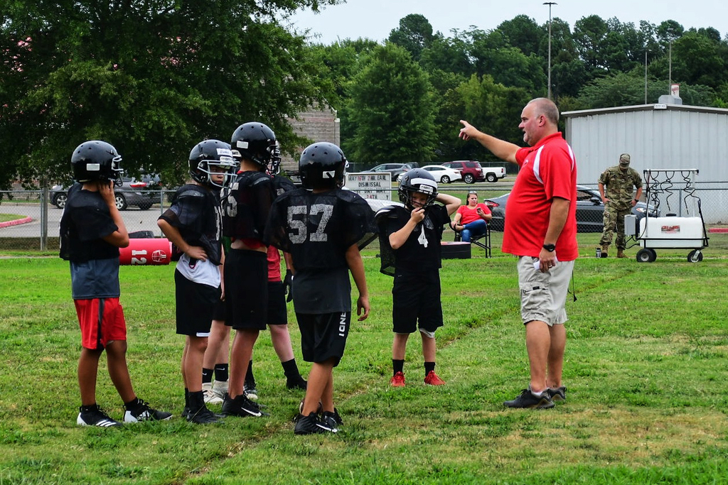 First week of RMS football practice.