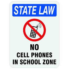 no cell phone in school zone