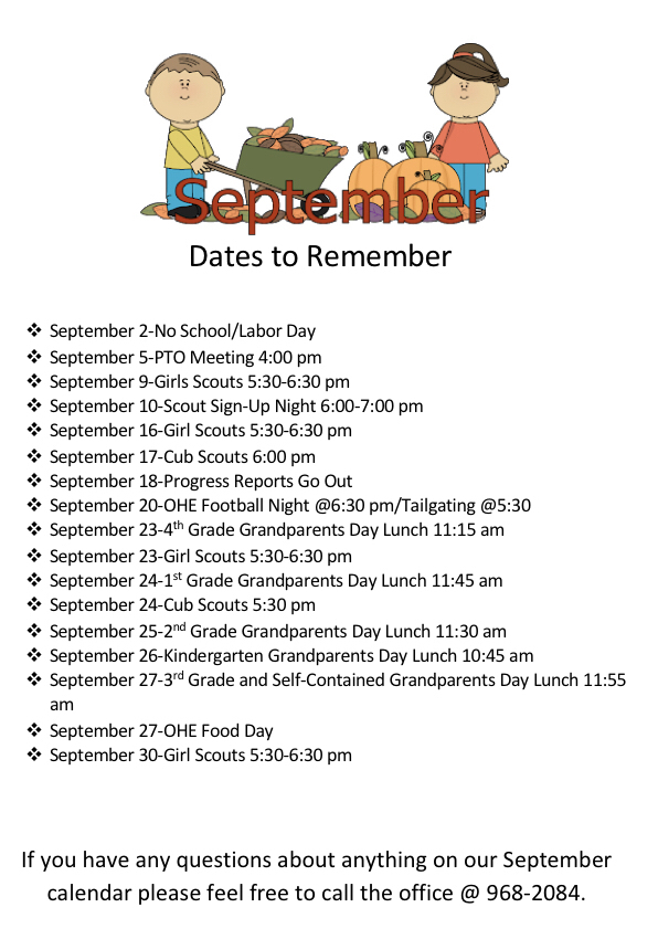 September important dates