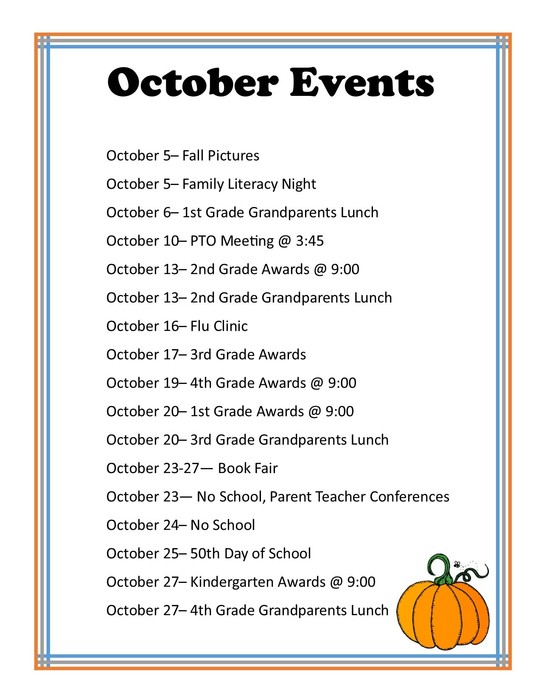 October Events at Crawford