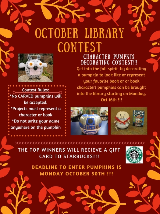October Library Contest Flyer