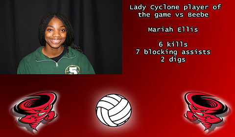 Mariah Ellis player of the game.