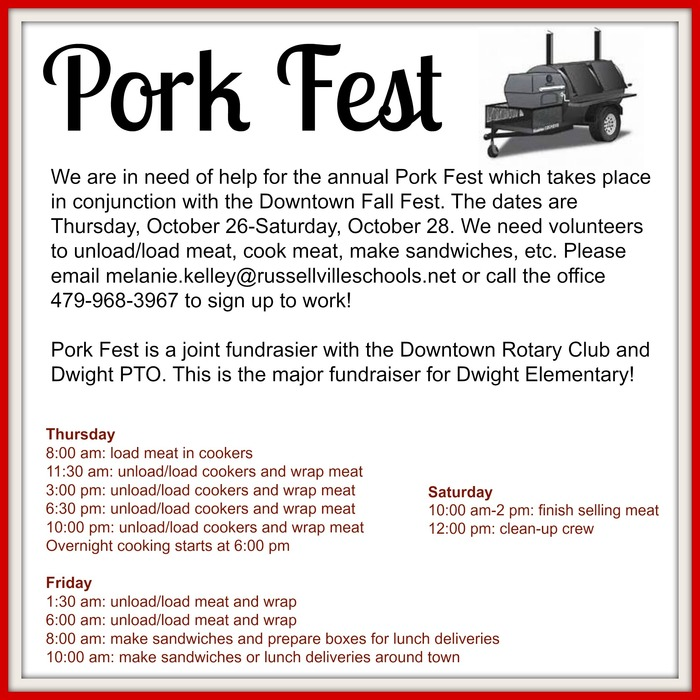 Pork Fest Flyer of Information
