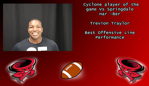 Trevion Traylor player of the game.