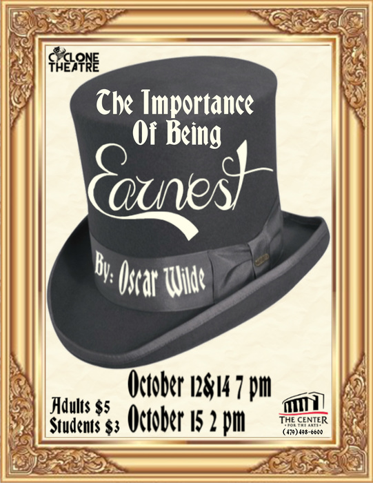 Poster for The Importance of Being Earnest