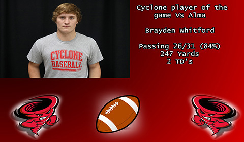 Brayden Whitford player of the game.