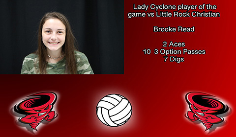 Brooke Read player of the game.
