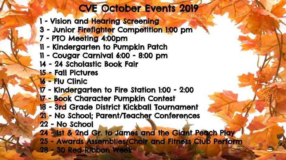 October Events Revised