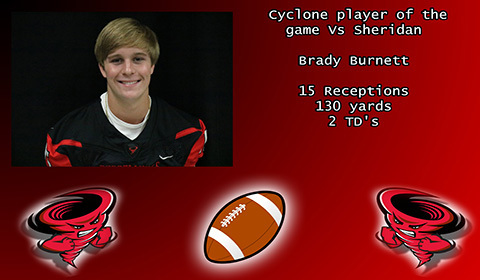 Brady Burnett player of the game.