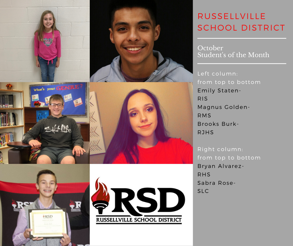 October Secondary Students of the Month