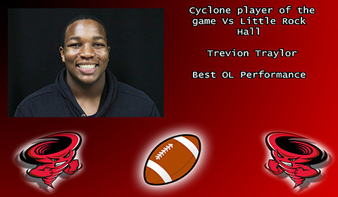 Trevion Traylor player of the game vs Little Rock Hall.