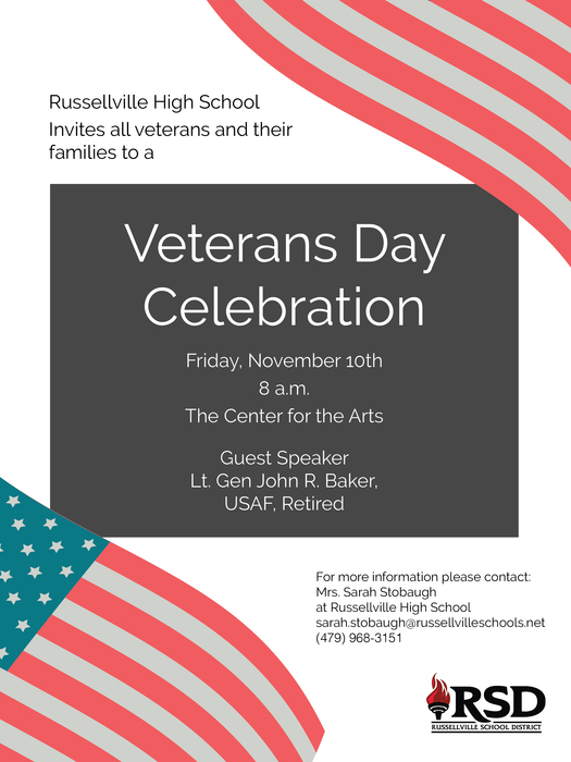 Veterans Day invitation, November 10th 2017