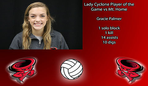 Gracie Palmer player of the game vs Mt. Home.