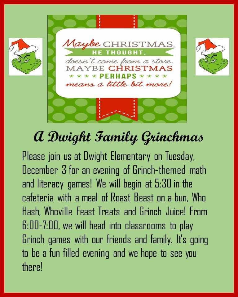 Family Grinchmas invitation