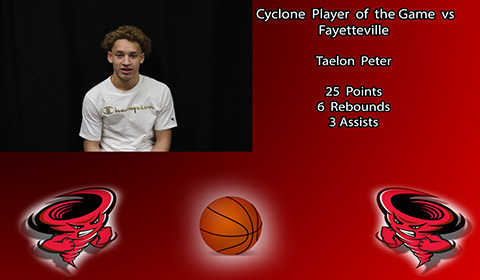 Taelon Peter player of the game.