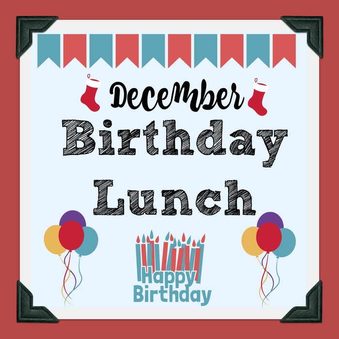December Birthday Lunch Poster