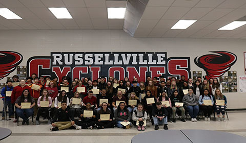 ACE awards at Russellville High School.
