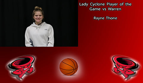 Rayne Thone player of the game.