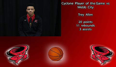 Trey Allen player of the game.