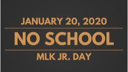 No school/MLK Day