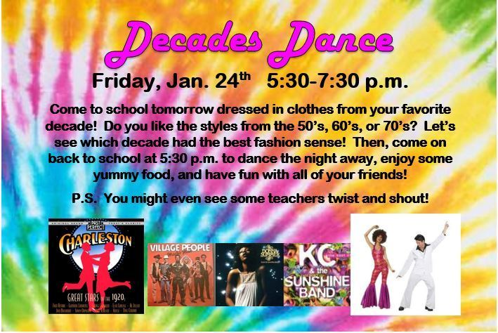 decade dance reminder