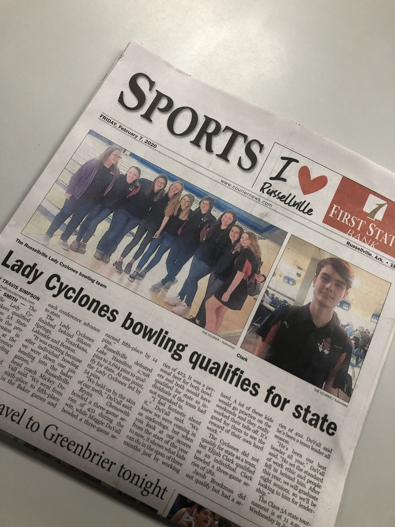 Newspaper article of Lady Cyclone bowling