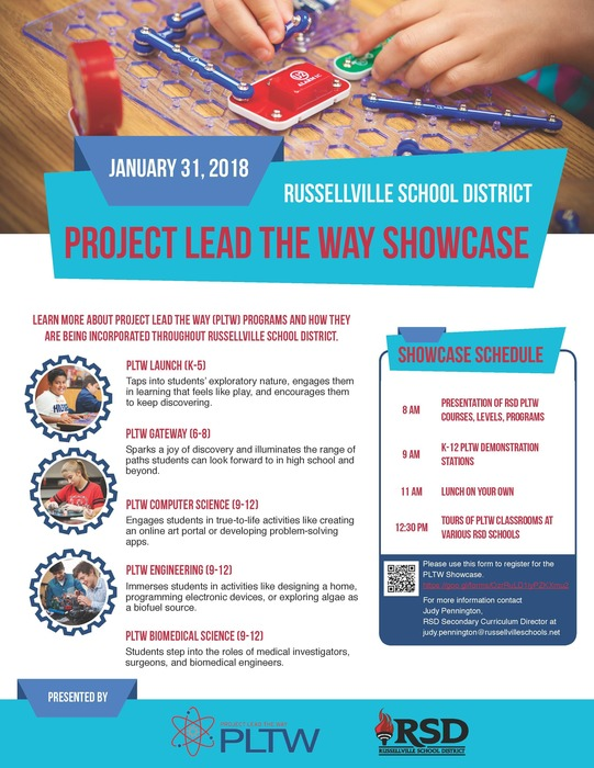 RSD PLTW Showcase flyer; January 31, 2018