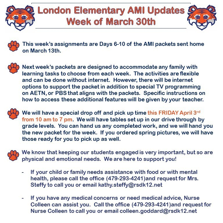 AMI for the week of March 30th