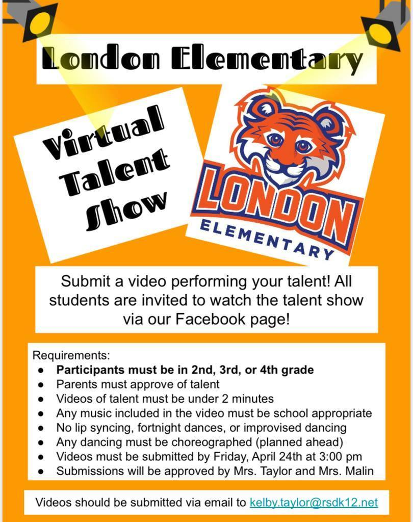 Virtual talent show information