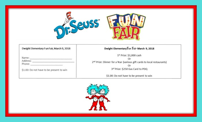 Fun Fair Raffle Reminder: March 9, 2018 Tickets are $1.00
